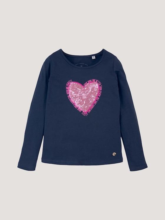 Longsleeve met applicatie - Meisjes - dress blue|blue - 7 - Tom Tailor E-Shop Kollektion