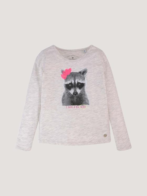 Langarmshirt mit Applikation - Mädchen - off white melange|white - 7 - Tom Tailor E-Shop Kollektion