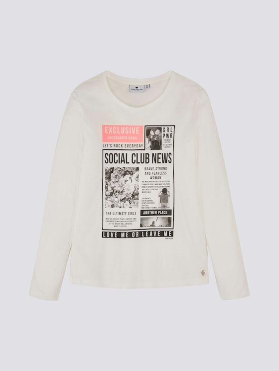 Longsleeve met print - Meisjes - cloud dancer|white - 7 - Tom Tailor E-Shop Kollektion