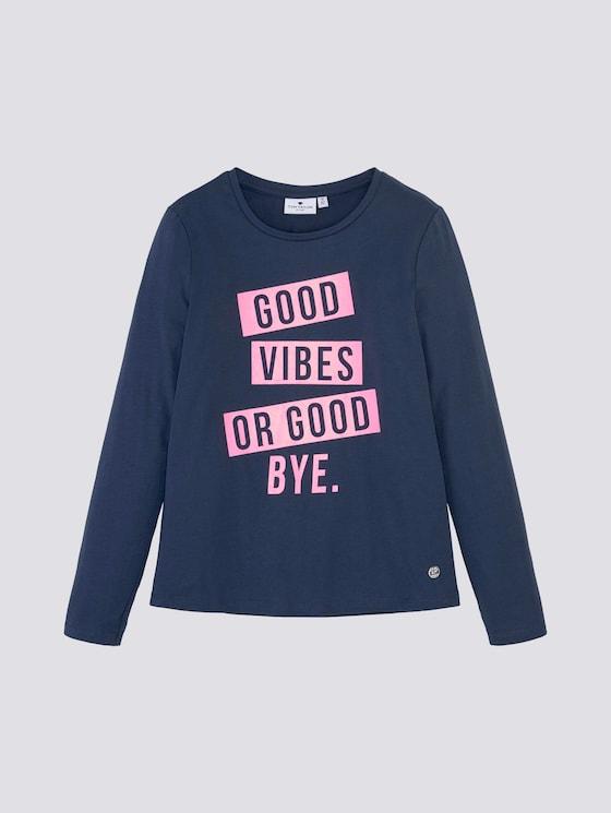 Langarmshirt mit Print - Mädchen - dress blue|blue - 7 - Tom Tailor E-Shop Kollektion