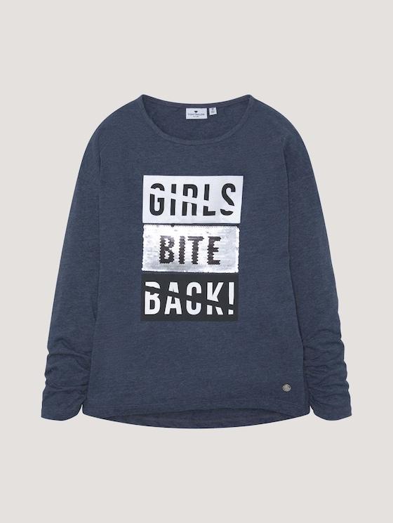 Langarmshirt mit Applikation - Mädchen - dress blue|blue - 7 - Tom Tailor E-Shop Kollektion