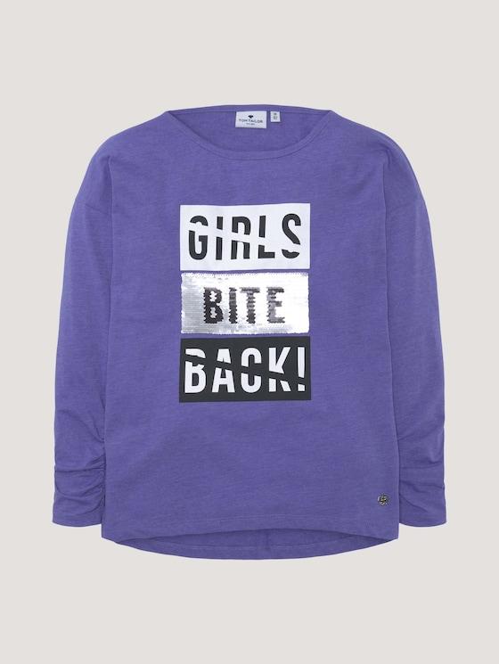 Langarmshirt mit Applikation - Mädchen - iris bloom|blue - 7 - Tom Tailor E-Shop Kollektion