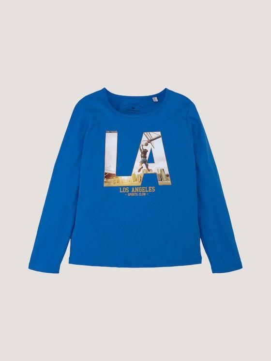 Langarmshirt mit besonderem Print - Jungen - strong blue|blue - 7 - Tom Tailor E-Shop Kollektion