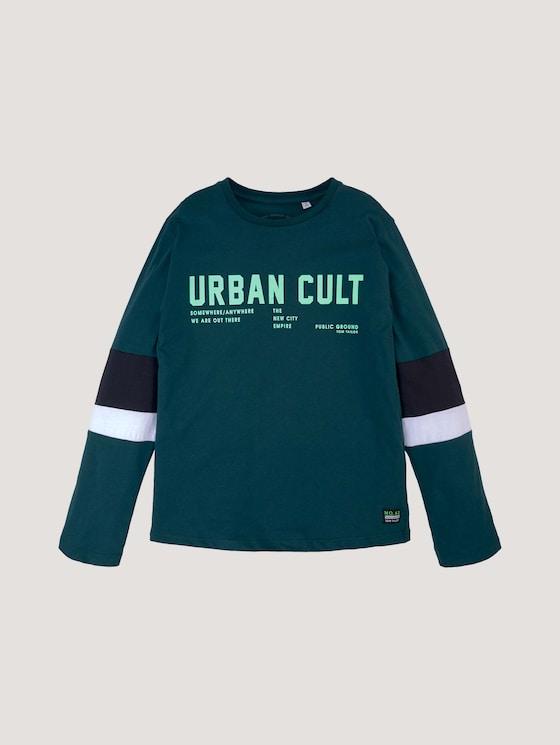 Printshirt mit Streifendetails - Jungen - deep teal|green - 7 - Tom Tailor E-Shop Kollektion