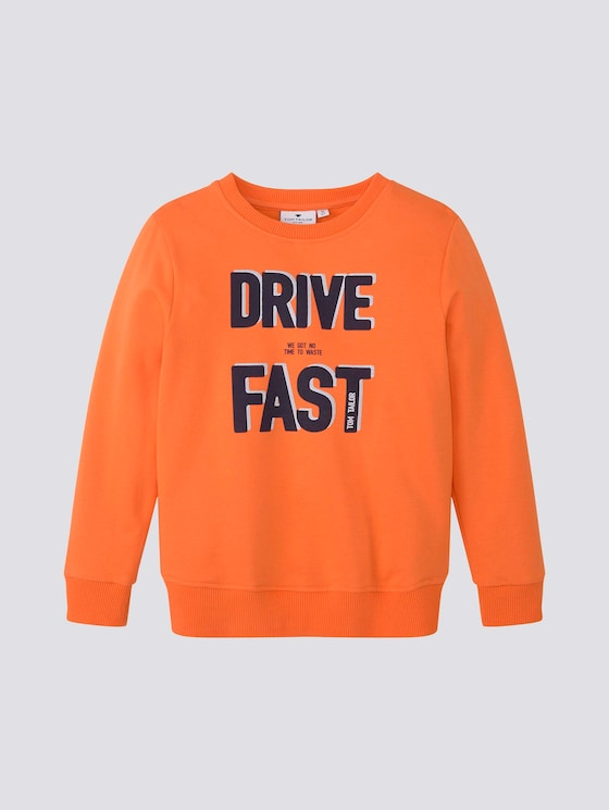 Sweatshirt met geplaatste print - Jongens - firecracker|orange - 7 - Tom Tailor E-Shop Kollektion