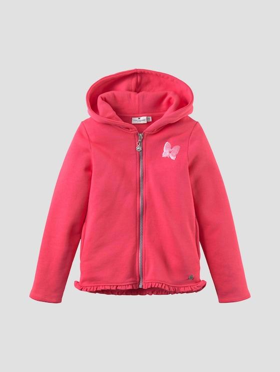 Sweatjacke mit Paillettenmotiv - Mädchen - rouge red|red - 7 - Tom Tailor E-Shop Kollektion