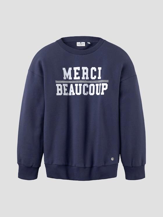 Sweatshirt mit Print - Mädchen - peacoat blue - 7 - Tom Tailor E-Shop Kollektion