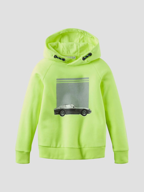 Colorblocking Hoodie mit Print - Jungen - flashy lime green - 7 - Tom Tailor E-Shop Kollektion
