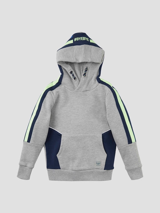 Hoodie mit Kontraststreifen - Jungen - drizzle melange|gray - 7 - Tom Tailor E-Shop Kollektion