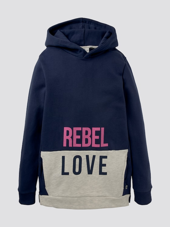 Langer Hoodie im Colorblocking - Mädchen - peacoat|blue - 7 - Tom Tailor E-Shop Kollektion