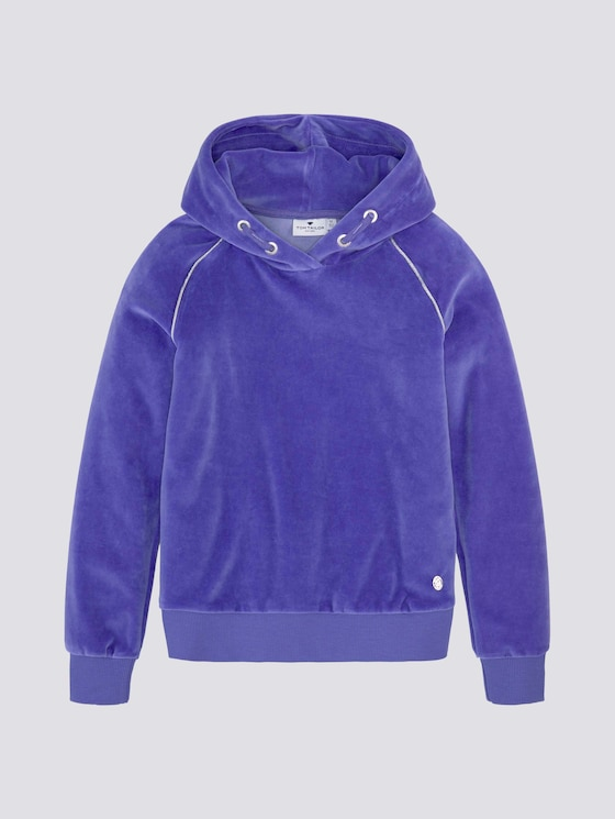 Nicki Hoodie mit Glitzerstreifen - Mädchen - iris bloom|blue - 7 - Tom Tailor E-Shop Kollektion