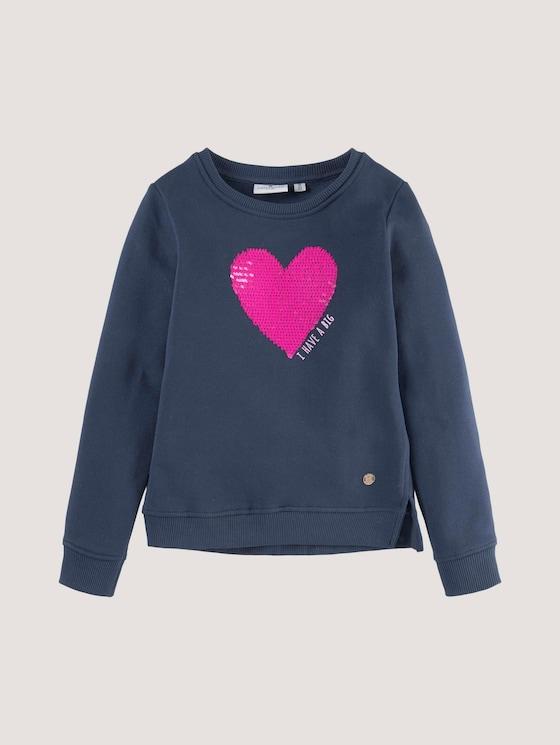 Sweater met pailletten - Meisjes - dress blue|blue - 7 - Tom Tailor E-Shop Kollektion