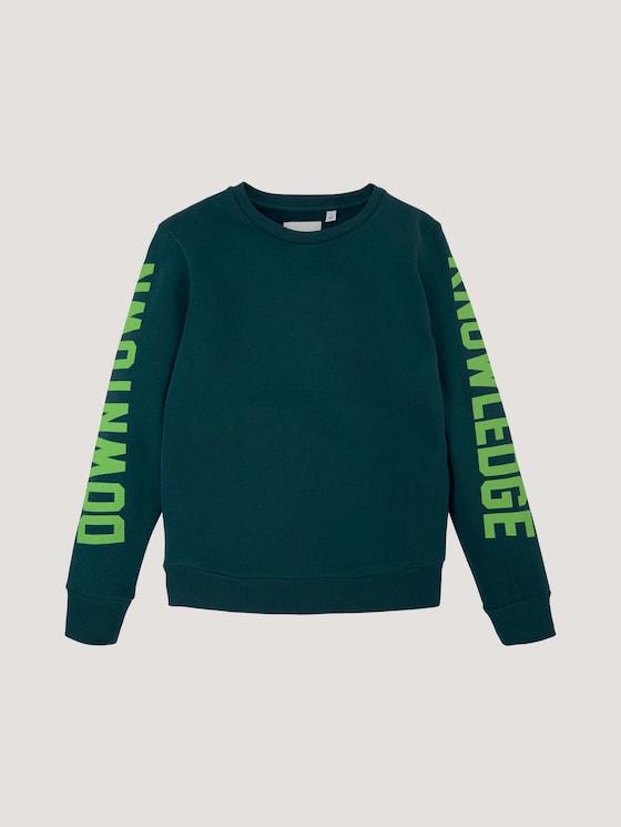 Sweatshirt mit Schriftprint - Jungen - deep teal|green - 7 - Tom Tailor E-Shop Kollektion
