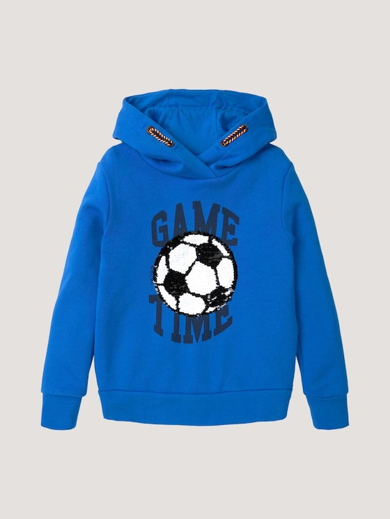 Hoodie mit Applikation - Jungen - strong blue|blue - 7 - Tom Tailor E-Shop Kollektion