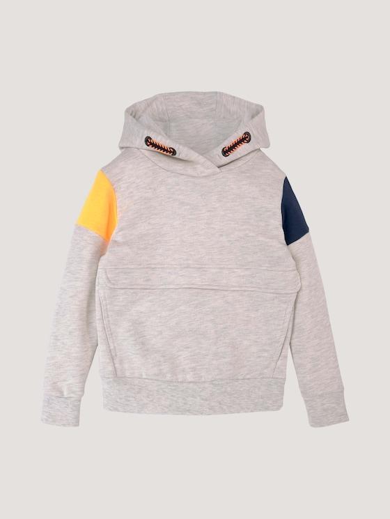 Hoodie mit Applikation - Jungen - off white melange|white - 7 - Tom Tailor E-Shop Kollektion