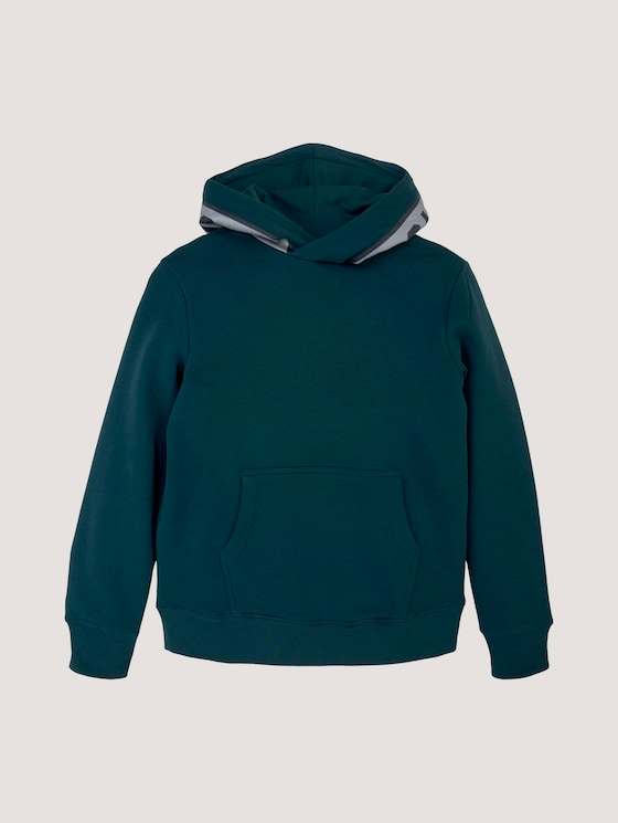 Hoodie met applicatie - Jongens - deep teal|green - 7 - Tom Tailor E-Shop Kollektion