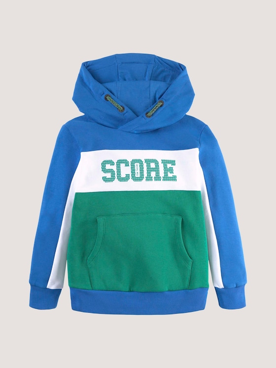 Hoodie met belettering print - Jongens - greenlake|green - 7 - Tom Tailor E-Shop Kollektion