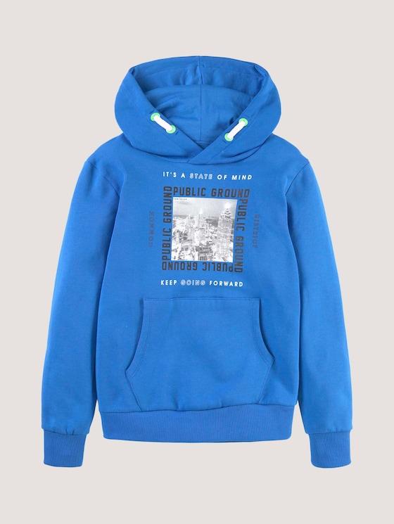 Hoodie mit Applikation - Jungen - strong blue|blue - 7 - Tom Tailor E-Shop Kollektion