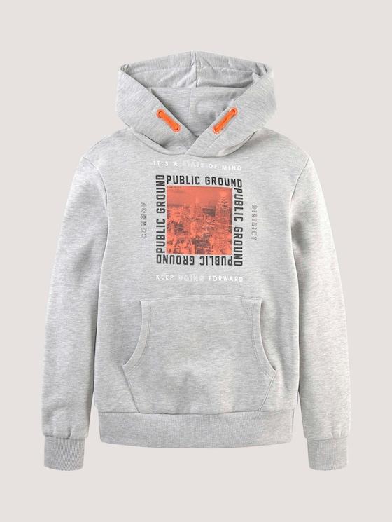 Hoodie mit Applikation - Jungen - drizzle melange gray - 7 - Tom Tailor E-Shop Kollektion