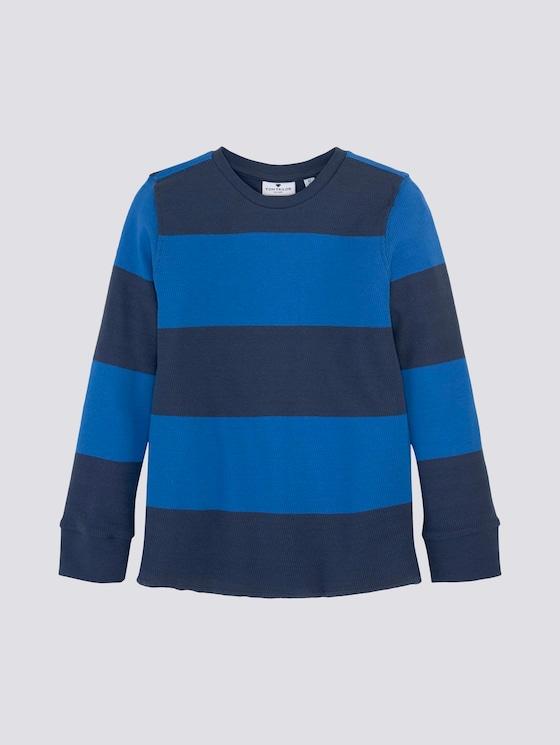 Gestreepte gebreide trui - Jongens - strong blue|blue - 7 - Tom Tailor E-Shop Kollektion