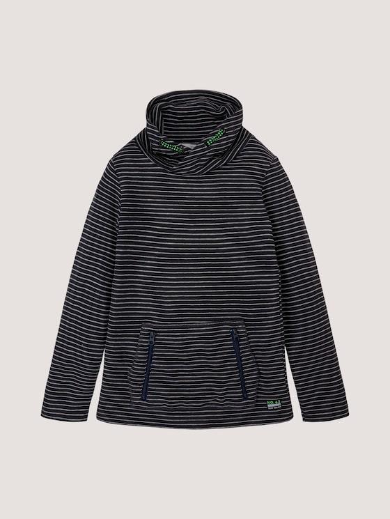 Gestreifter Pullover mit Stehkragen - Jungen - vulcan|gray - 7 - Tom Tailor E-Shop Kollektion