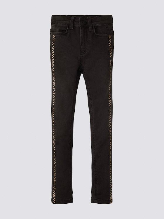 Jeans mit gepunkteter Leiste - Mädchen - black denim|black - 7 - Tom Tailor E-Shop Kollektion