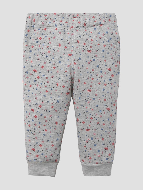Gemusterte Laufhose mit Taschen - Babies - lunar rock melange|beige - 7 - Tom Tailor E-Shop Kollektion