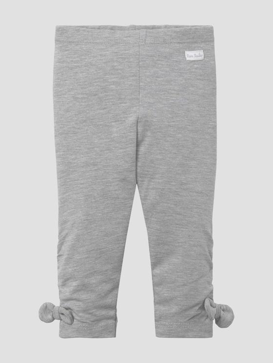 Leggings mit Schleifendetails - Babies - lunar rock melange|beige - 7 - Tom Tailor E-Shop Kollektion