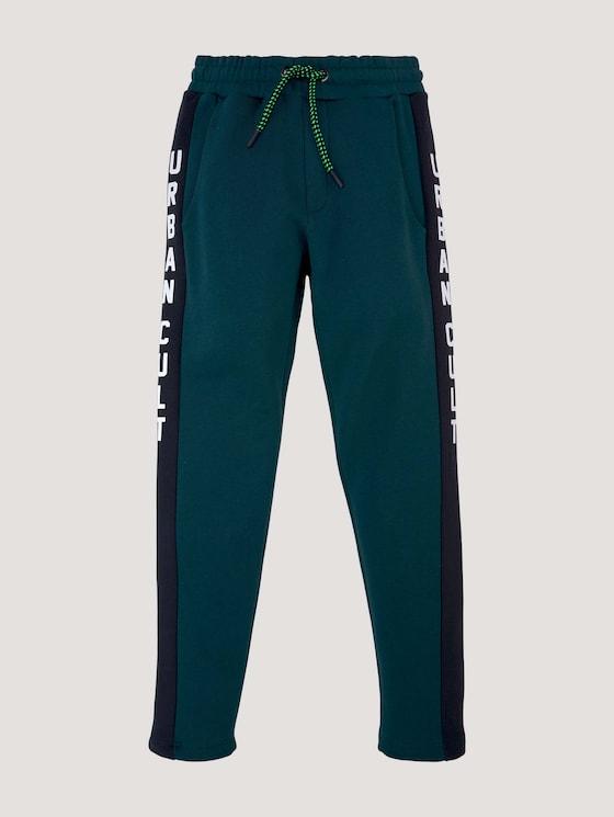 Jogginghose mit Printstreifen - Jungen - deep teal|green - 7 - Tom Tailor E-Shop Kollektion