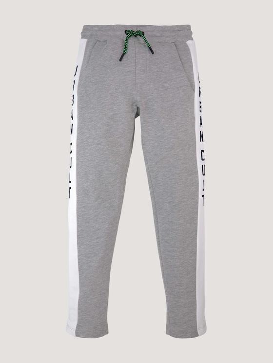 Jogginghose mit Printstreifen - Jungen - drizzle melange|gray - 7 - Tom Tailor E-Shop Kollektion