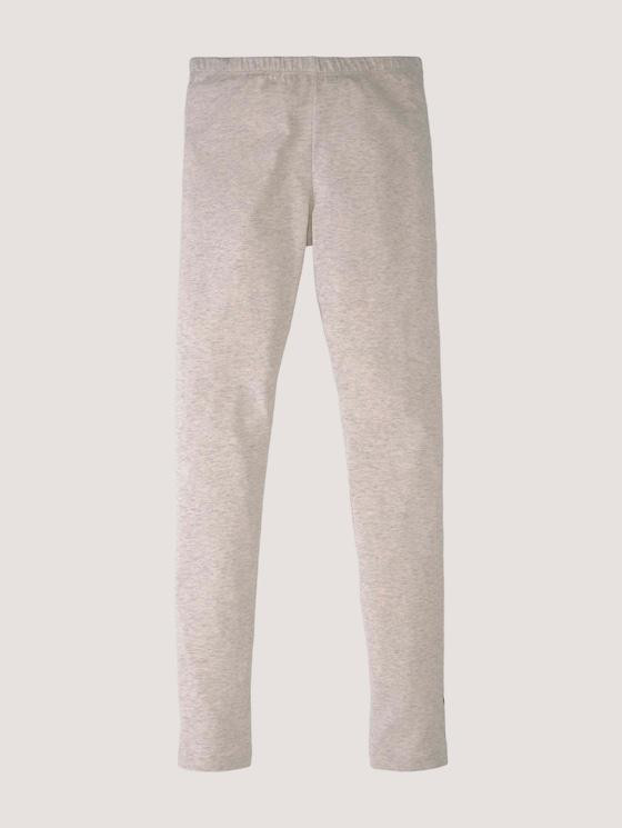 Melierte Leggings mit Print - Mädchen - off white melange|white - 7 - Tom Tailor E-Shop Kollektion