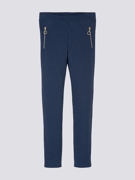 Leggings mit Reißverschlüssen - Mädchen - dress blue|blue - 7 - Tom Tailor E-Shop Kollektion