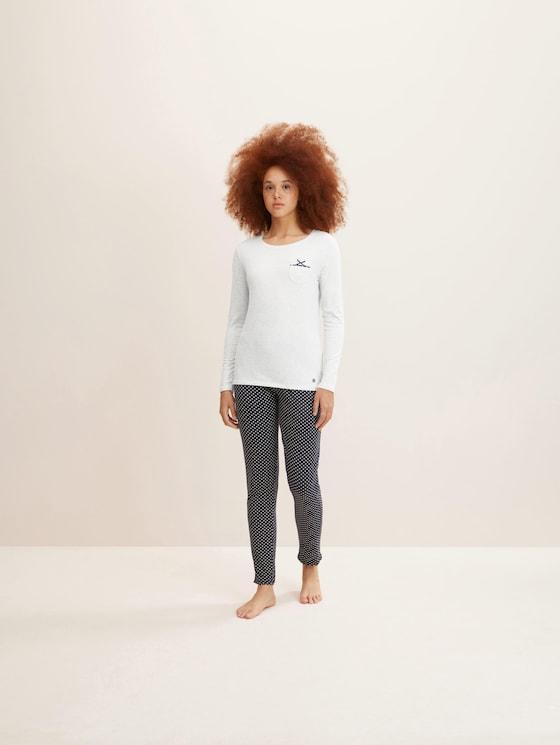 Lange pyjama Set - Vrouwen - blue allover - 3 - TOM TAILOR