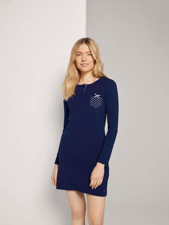 Nachthemd met borstzak - in Pyjama's & Loungewear