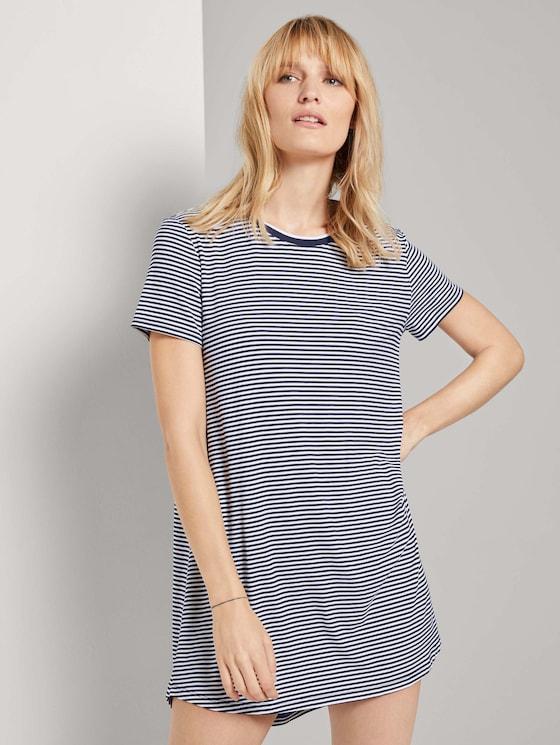 Gestreiftes Pyjama Kleid - Frauen - blue ring - 5 - TOM TAILOR