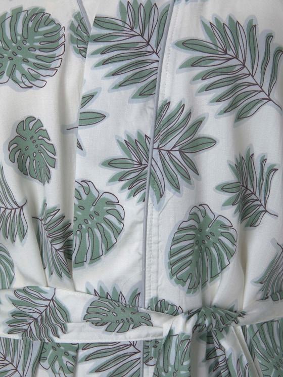 gemusterter Kimono - Frauen - light-green-allover - 9 - TOM TAILOR