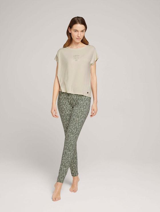 Langes Pyjama-Set - Frauen - medium green allover - 3 - TOM TAILOR