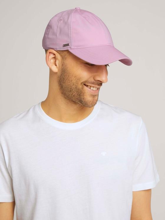 Cap mit Logo Stickerei - Männer - pink uni - 5 - TOM TAILOR