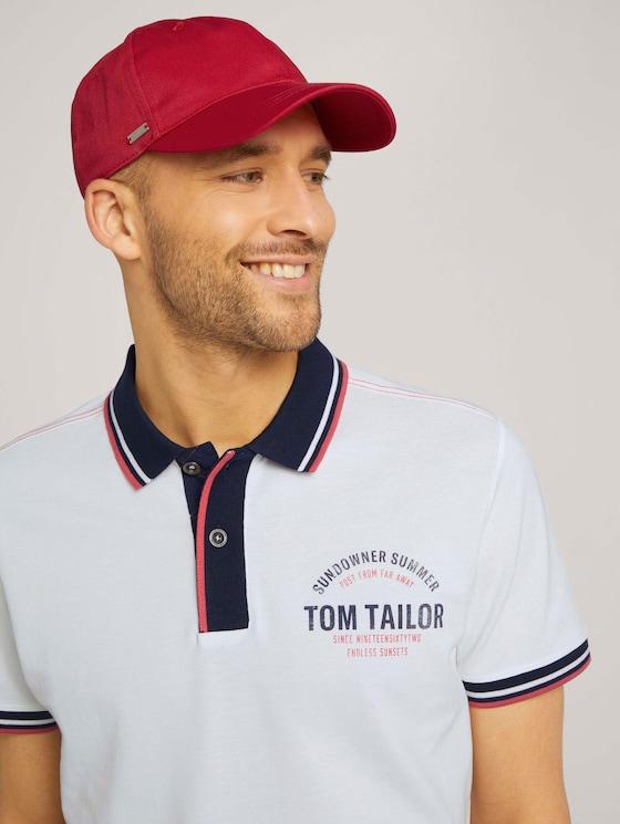 Cap mit Logo Stickerei - Männer - red uni - 5 - TOM TAILOR