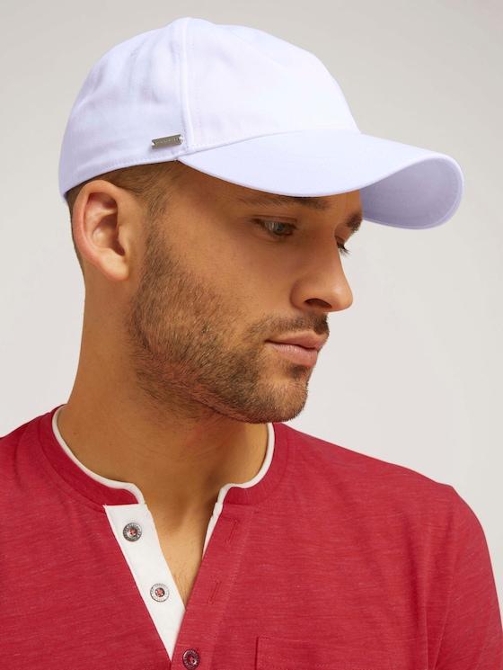 Cap mit Logo Stickerei - Männer - white uni - 5 - TOM TAILOR