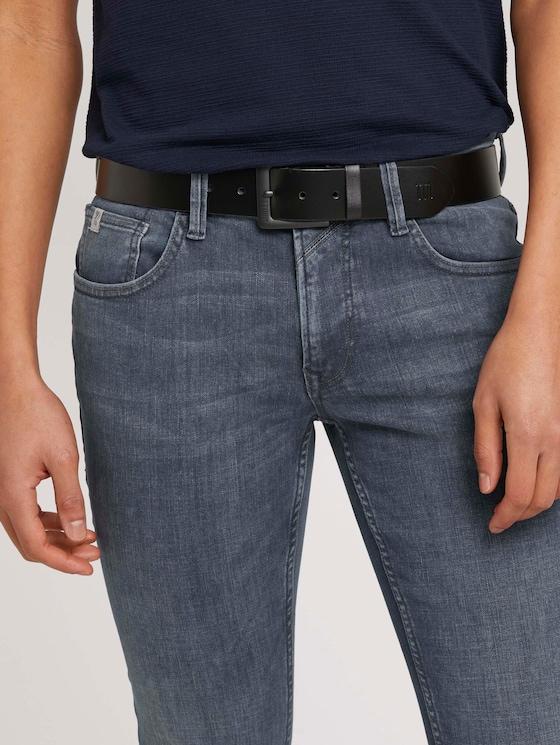 Jeansgürtel mit Lederdetails - Männer - black uni - 5 - TOM TAILOR Denim