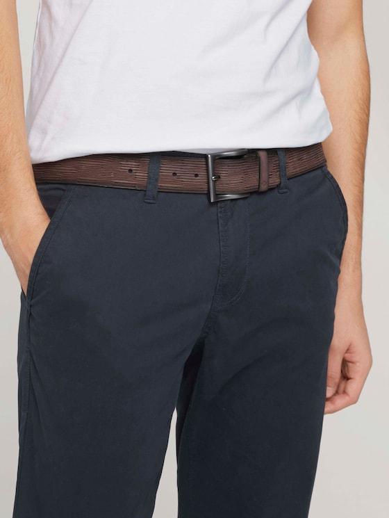 Geprägter Ledergürtel im Used Look - Männer - brown uni - 5 - TOM TAILOR Denim