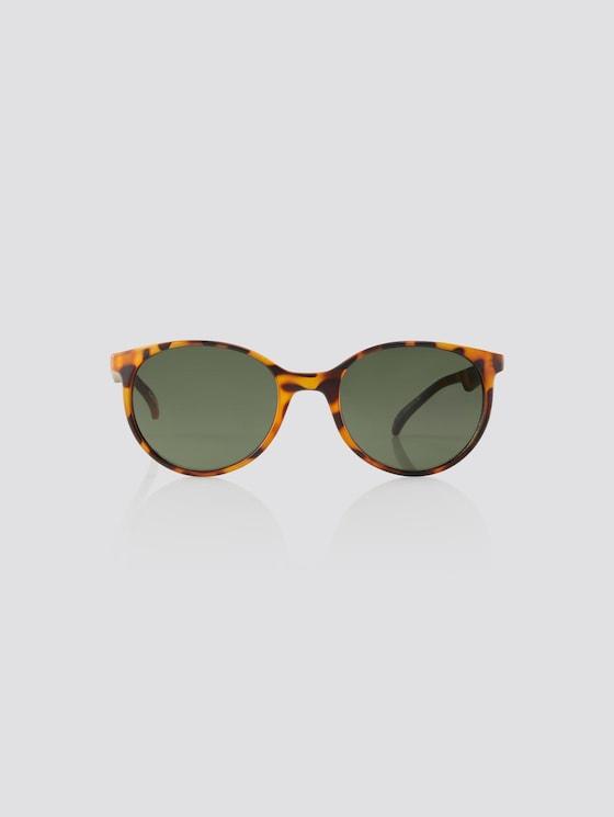 Abgerundete Unisex-Kindersonnenbrille - unisex - havanna/havanna matt - 7 - TOM TAILOR