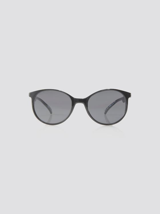 Abgerundete Unisex-Kindersonnenbrille - unisex - black-light pink - 7 - TOM TAILOR