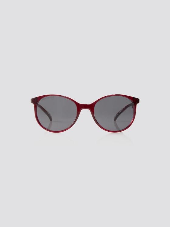 Abgerundete Unisex-Kindersonnenbrille - unisex - red transparent llight grey - 7 - TOM TAILOR