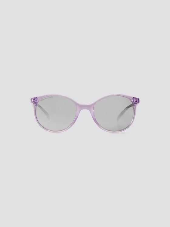 Abgerundete Unisex-Kindersonnenbrille - unisex - violett transparent plum - 7 - TOM TAILOR