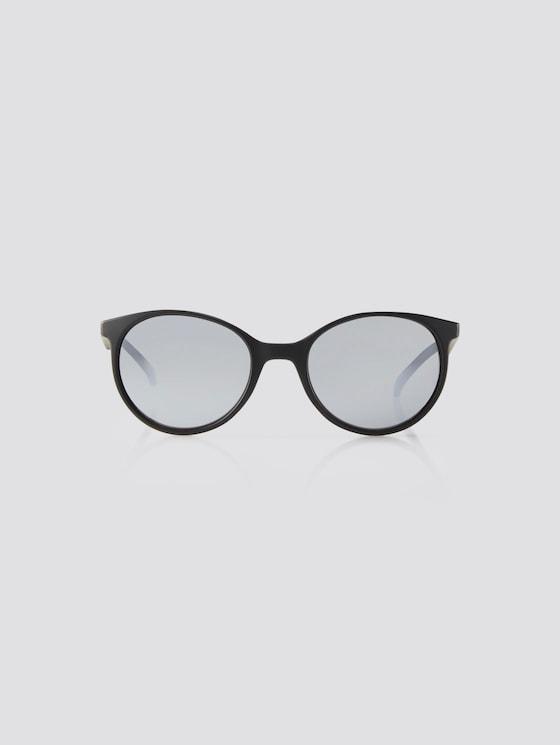 Abgerundete Unisex-Kindersonnenbrille - unisex - black matt - 7 - TOM TAILOR