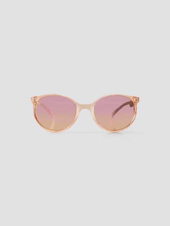 Abgerundete Unisex-Kindersonnenbrille - unisex - brown transparent - 7 - TOM TAILOR