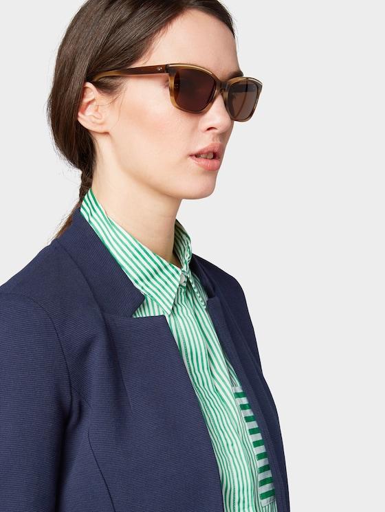 Sonnenbrille mit Streifenmuster - Frauen - hell braun struk.-gold - 5 - TOM TAILOR