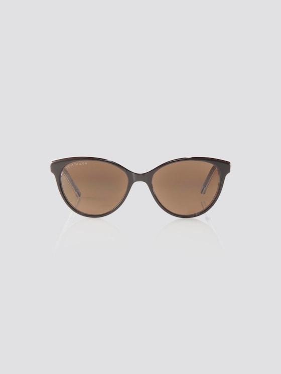 Cat Eye Unisex-Kindersonnenbrille - unisex - brown-white-blue - 7 - TOM TAILOR